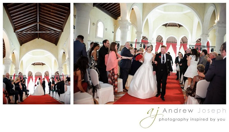 wedding in melia villaitana resort Benidorm - walking down the aisle -